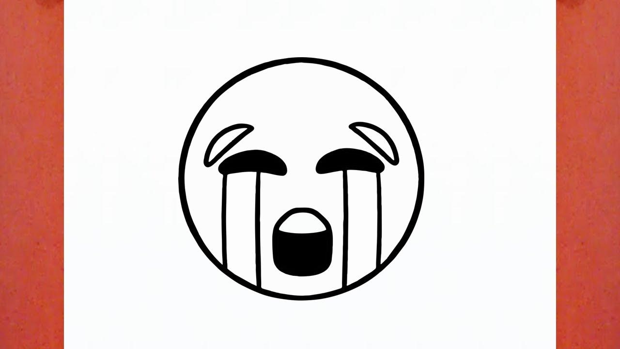 Como Desenhar O Emoji Chorando Muito
