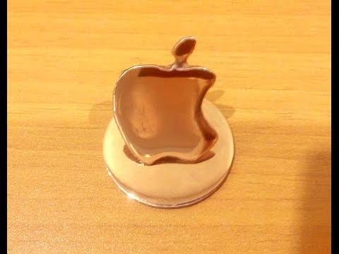 Медный логотип apple