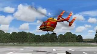 Medicopter 117  - D-HECE - BK 117 Departures in Flight Simulator