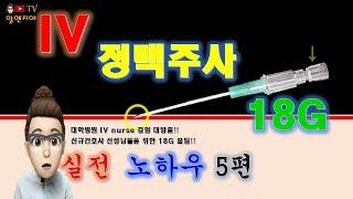 IV 정맥주사 놓는법 5편 18G - IV nurse 경험자의 실전 노하우.