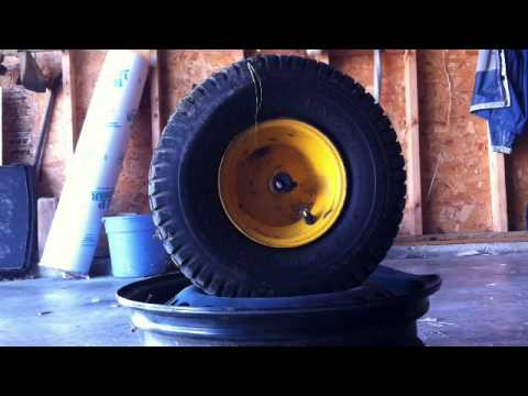 How To Dismount And Mount Lawn Mower Tire With Hand Tools