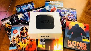 Apple Tv 4K Unboxing 4K/HDR & SDR Video Set Up (2018)