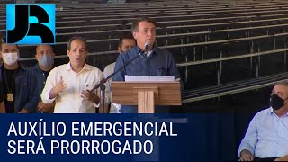 Bolsonaro diz que auxílio emergencial será prorrogado até o fim do ano