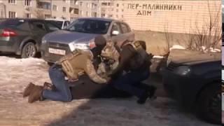 ФСБ опубликовала видео задержания вооруженной банды в Калуге