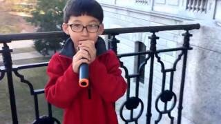 8 year old boy sing Hallelujah Cover