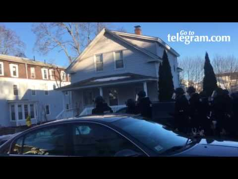 Worcester MA police arrest protesters who blocked traffic