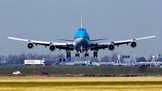 CROSSWIND, BOEING, 747, 777, 787 POLDERBAAN LANDINGS.