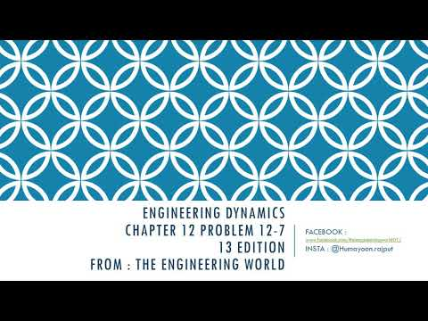 ENGINEERING DYNAMICS (rc hibbeler) , chapter 12 13edition , problem 12-7 | THE ENGINEERING WORLD