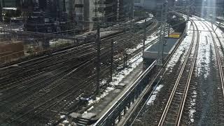 4年ぶりの大雪から2日~東京の街に残る降雪の影響:山手線 新橋駅 品川駅 周辺の様子 thumbnail