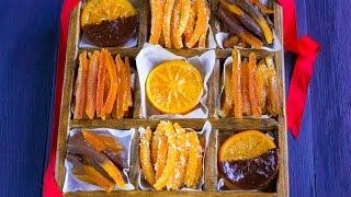 Цукаты из апельсиновых корочек — видео рецепт