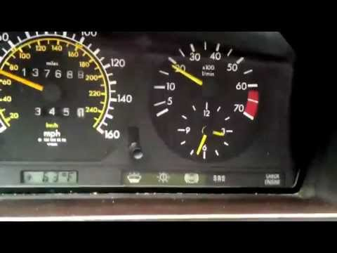 88 Mercedes 300E 5 Speed High Idle pt 1 - YouTube