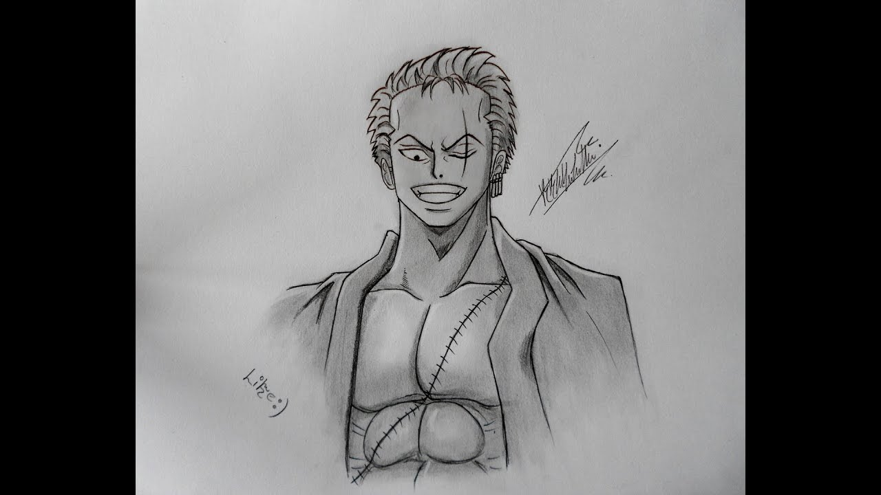 Dibujando a zoro roronoa one piece youtube for One piece dibujos