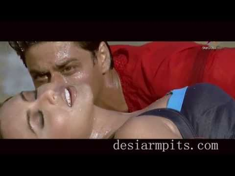 Rani mukherji's thick armpits on beach - just enough for Shah Rukh Khan to get excited