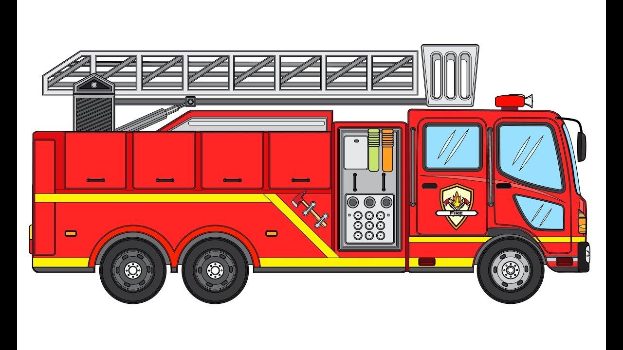 Cara Menggambar Mobil Pemadam Kebakaran Menggambar Untuk Anak Anak Youtube