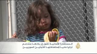 ميركل: ألمانيا تدعم تركيا ماديا لاستضافتها اللاجئين السوريين