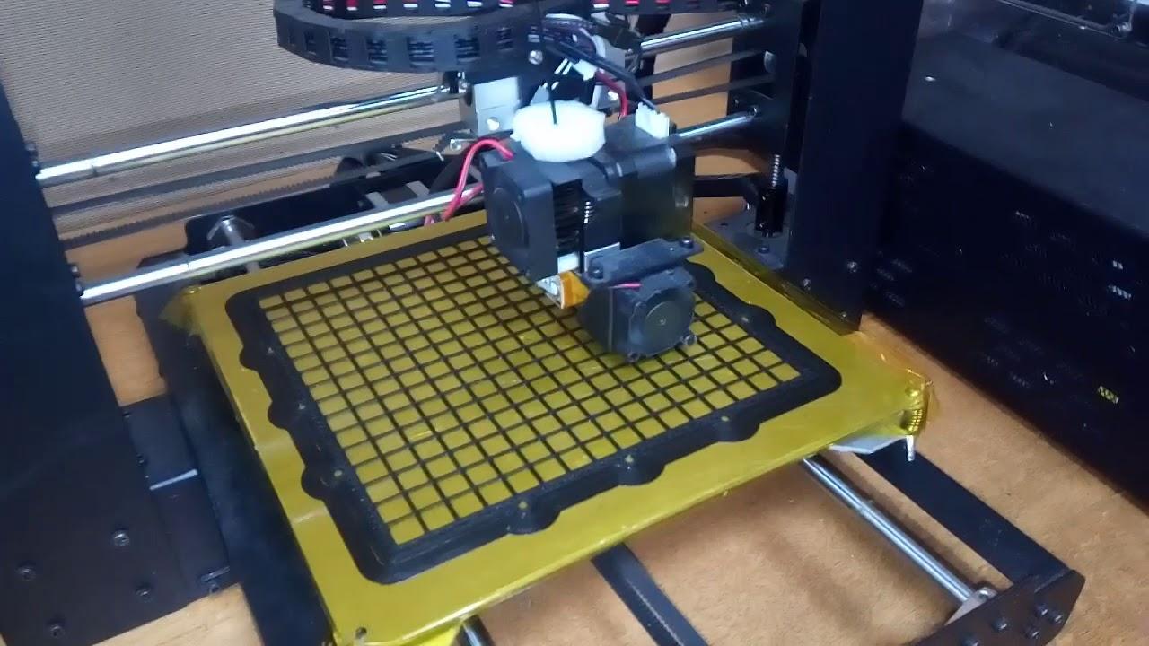 Работа 3D принтера wanhao duplicator i3