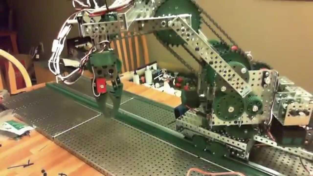 Vex Robotics 5 Axis Linear Slide Base Robot Arm Using