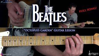Octopus's Garden Guitar Lesson (Full Song) - The Beatles