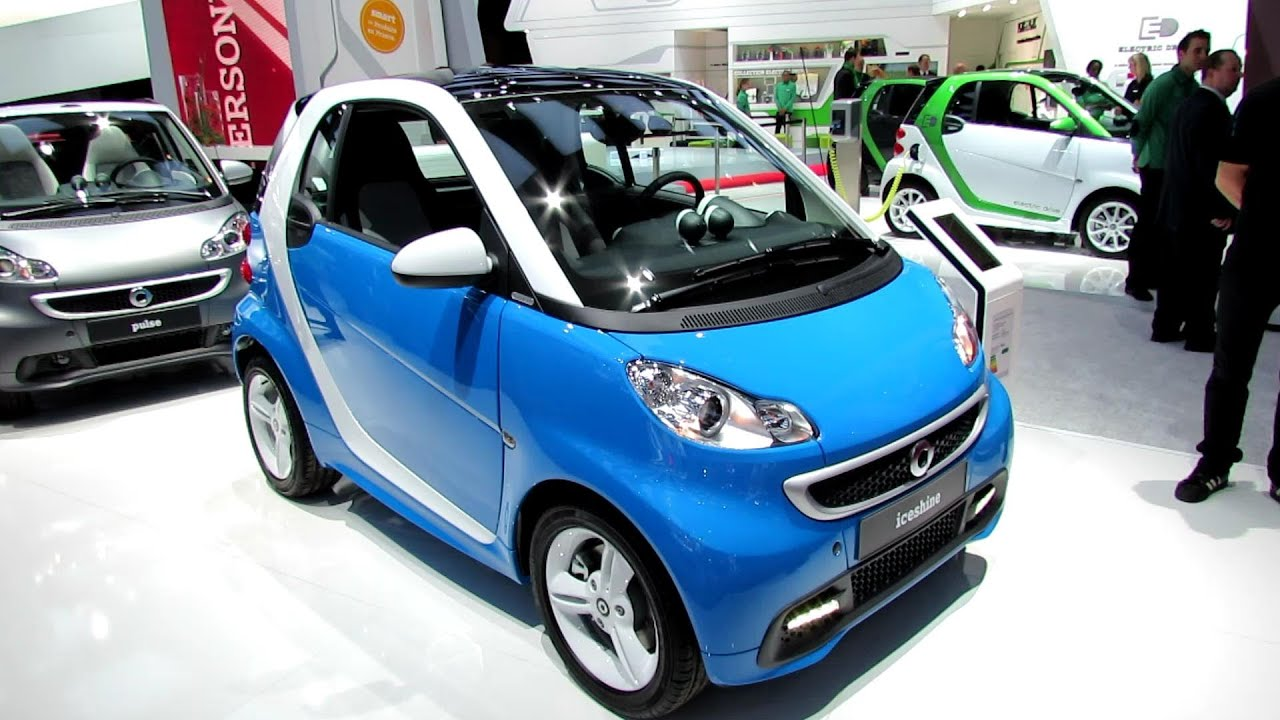 Smart Car Interior >> 2013 Smart Iceshine - Exterior and Interior Walkaround - 2012 Paris Auto Show - YouTube