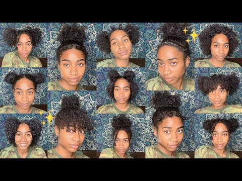 13 Low Manipulation Natural Hairstyles Easy Lazy Wash And Go Hairstyles Youtube