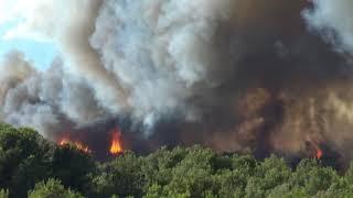 Incendie a port de bouc le 10 08 2017..vu d une nacelle