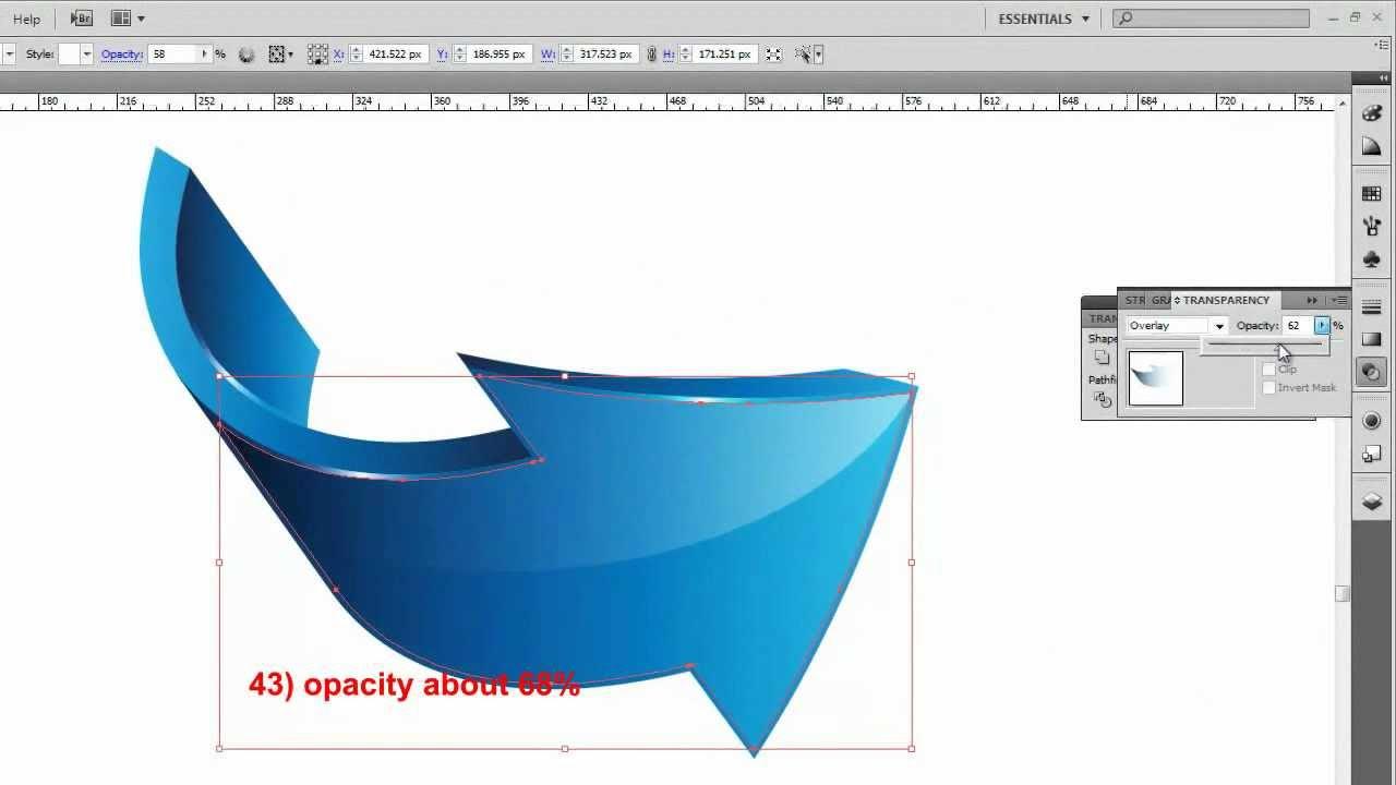 3d Arrows Logo Adobe Illustrator Tutorial Hd Youtube