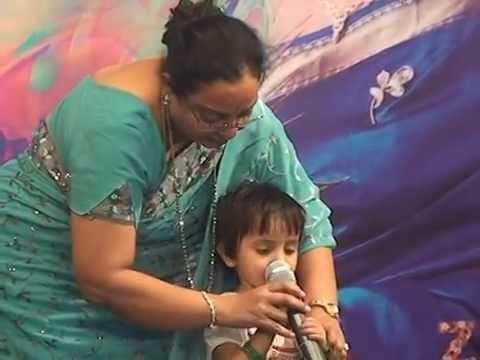 Anni singing at Sadhana Music School event
