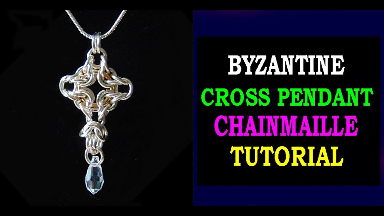 HOW TO MAKE A CROSS PENDANT USING BYZANTINE CHAINMAILLE ...