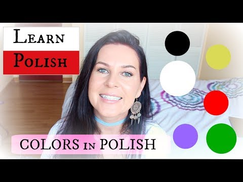 POLISH  //  How to say COLORS  // ItsEwelina
