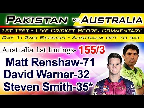 Australia vs Pakistan, 1st Test - Live Cricket Score, Commentary 15 December 2016