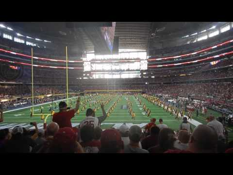 USC marching band performs fight on in pregame at AT&T Stadium