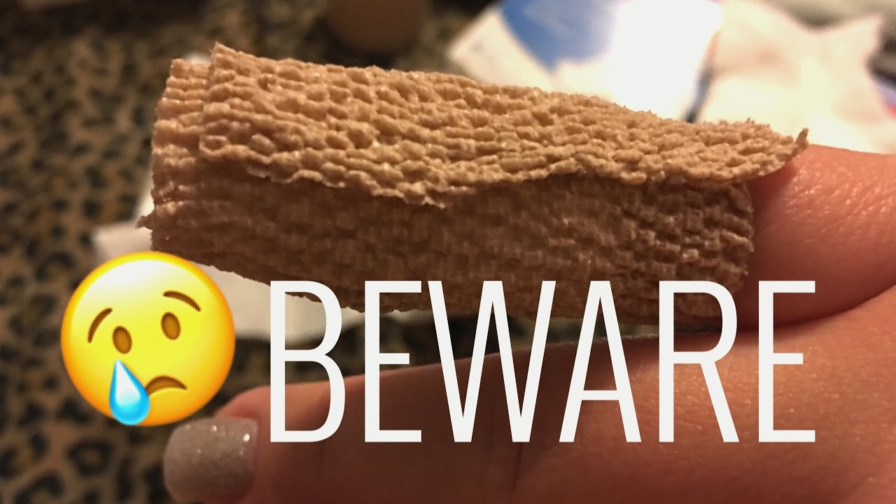 I Ripped My Acrylic/Real Nail Off.. BEWARE before watching - YouTube
