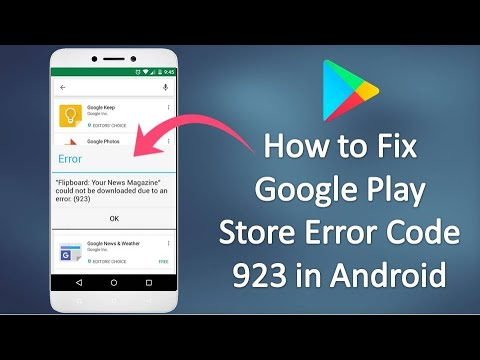 How To Fix Google Play Store Error 923 In Android 2019