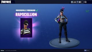 NEW Rapscallion Skin Gameplay - Fortnite Battle Royale Live Gameplay