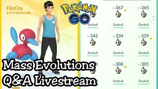 Mass Evolutions + Q&A Livestream!