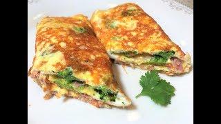 Восхитительный  Завтрак за 5 минут.  Сырный Хрустящий Омлет . Cheese omelette