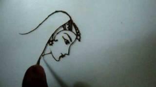 How to draw Dulhan(Bride) with Mehendi(Henna) by Rajeswari Mahesh