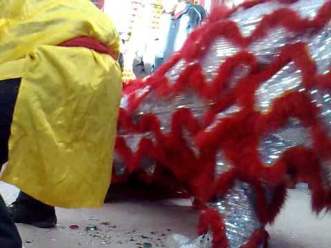 Jing Wo Lion Dance At Center Street Temple For Chinese New Years 2011