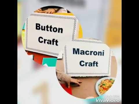 button craft and macroni craft activity on FYA school