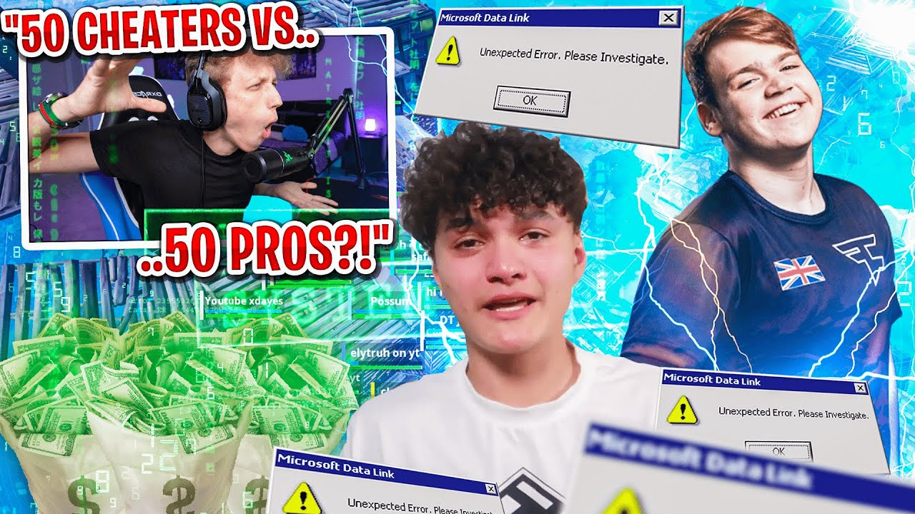 I got 50 CHEATERS vs 50 PROS to scrim for $100 in Fortnite... (cheaters CRASHED my game)