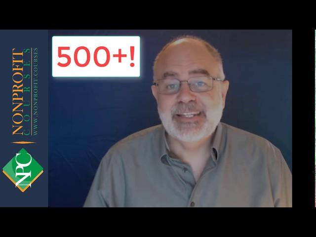 500 Courses on Nonprofit.Courses!