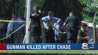 Gunman killed after chase