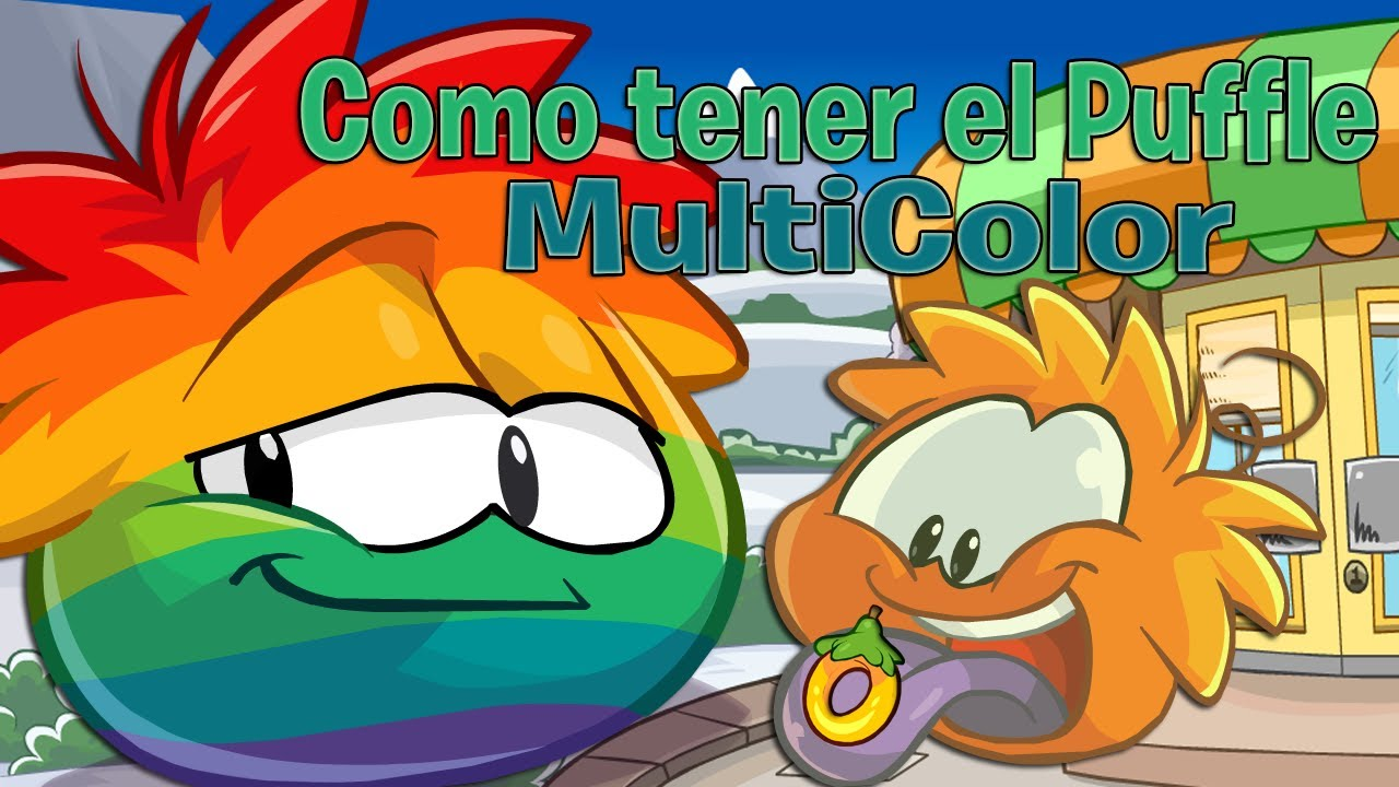 club penguin como tener el puffle multicolor marzo 2013 hd youtube. Black Bedroom Furniture Sets. Home Design Ideas