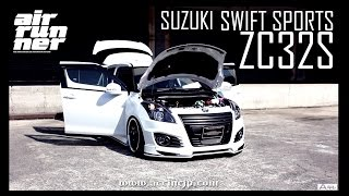 ACCtv ZC32 SUZUKI SWIFT エアサス AIRRUNNER AIRSUSPENSION SYSTEM
