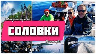 Поход на катерах на Белое море Архипелаг Кузова и Соловки 2 часть Соловки с другой стороны