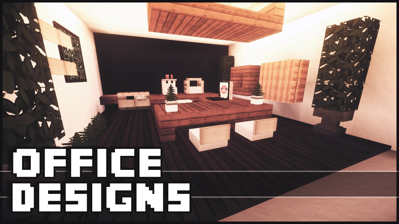 minecraft office designs ideas youtube
