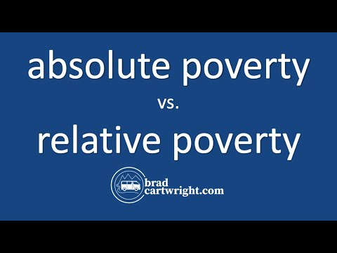 Equity in the Distribution of Income Series:  Absolute Poverty vs. Relative Poverty