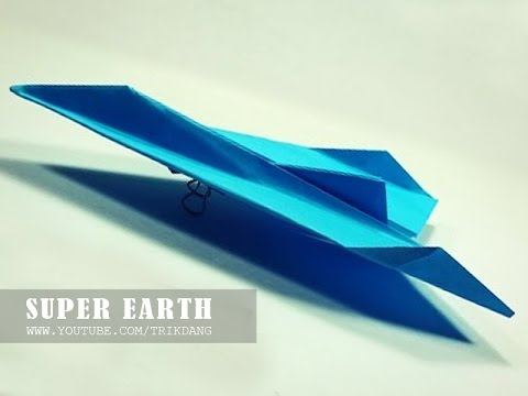 Papercraft Paper Airplane Instructions: How to make a paper plane that FLIES FAST & FAR | Super Earth