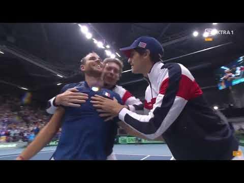 Davis Cup - Mannarino(FRA) vs Haase(NET) 2/4/2018