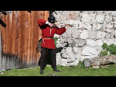 Spanning and shooting a medieval Crossbow